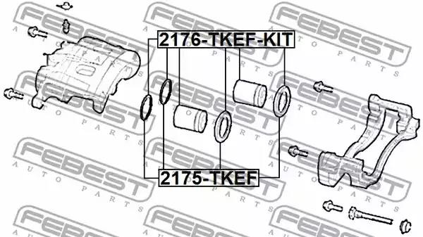 Repair Kit, brake caliper FEBEST 2175TKEF 2