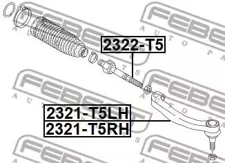 Tie Rod End FEBEST 2321T5LH 2