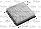 Filter, interior air VALEO 715653